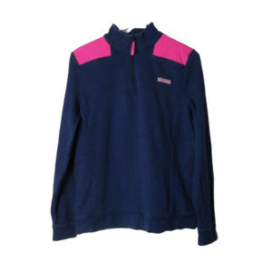 Vineyard vines shep shirt pullover pink and navy